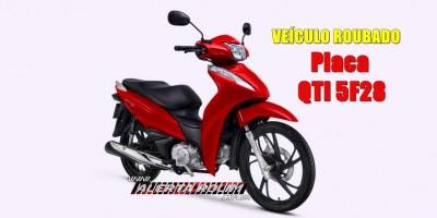 Mulher tem moto roubada por dois criminosos, no Bairro Beira Rio em Rolim de Moura