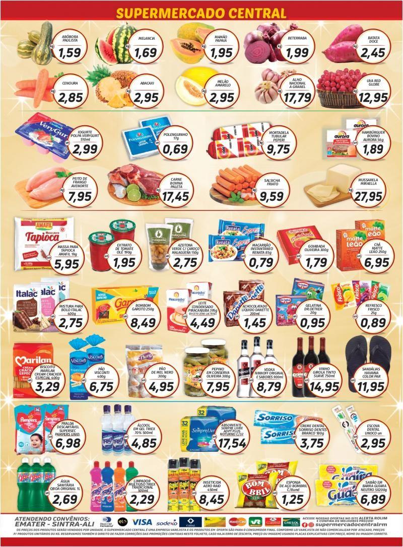 Faça suas compras no Supermercado Central até dia 30/11 e concorra a dois mil reais em dinheiro, em Rolim de Moura