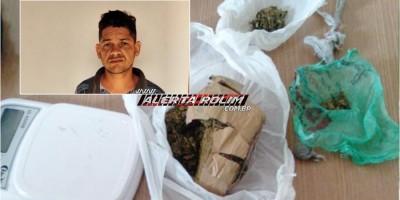 Suspeito de tráfico de drogas é preso pela Polícia Militar e Polícia Civil em Rolim de Moura