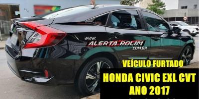 Veículo Honda Civic é furtado na Zona Sul de Porto Velho