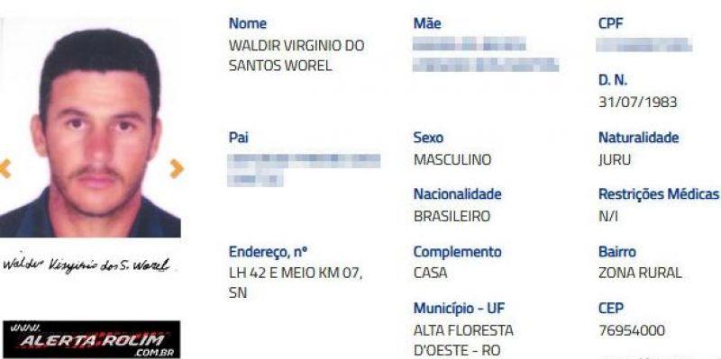 Foragido, acusado de matar Policial Militar durante roubo há 18 anos na Paraíba é preso pela PM e PC em Alta Floresta/RO