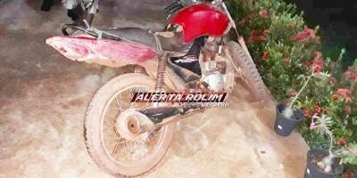 Motocicleta furtada em 2018, em Rolim de Moura é recuperada pela PM, durante a Operação Paz no Campo na Região da Zona da Mata
