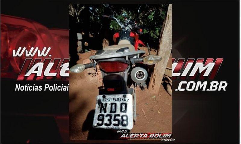 Motocicleta furtada em Rolim de Moura é recuperada pela PM em Alto Alegre dos Parecis