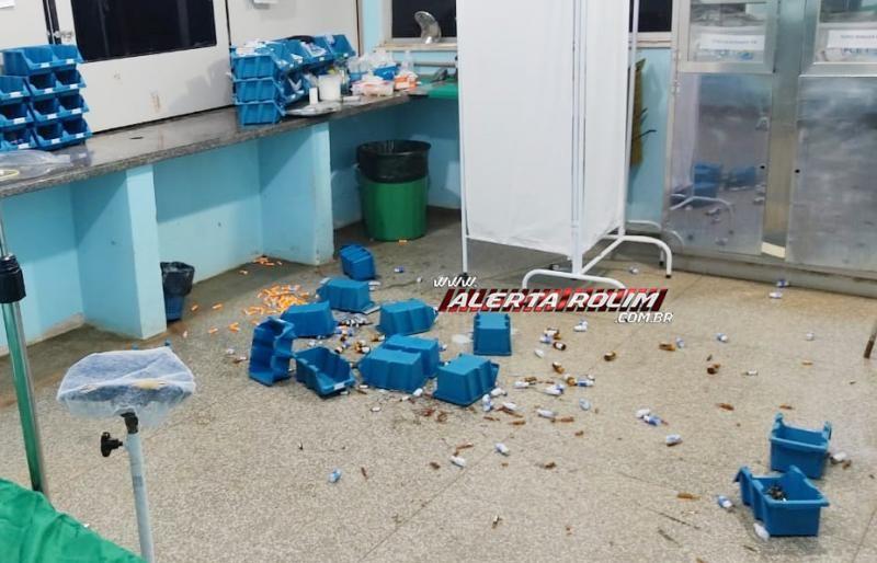 Mulher descontrolada danifica Hospital em Nova Brasilândia e Médico sofre ameaças e desacato, além de ser quase agredido, enquanto trabalhava