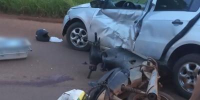 Motociclista morre após colidir contra carro na BR-429  em São Francisco do Guaporé