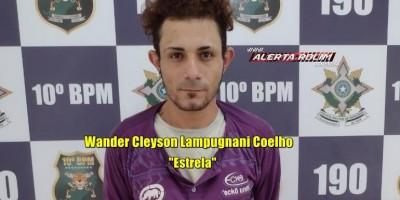 Acusado de crime de roubo, que havia fugido da prisão é recapturado pela PM em Rolim de Moura