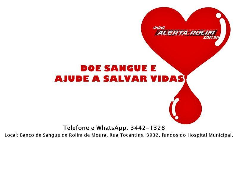 Hemocentro de Rolim de Moura precisa com urgência de doações de sangue