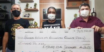 Leilão Direito de Viver de Rolim de Moura presta contas ao Hospital do Amor