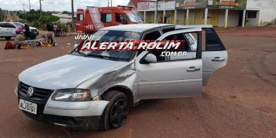 Grave acidente de trânsito foi registrado durante a tarde de domingo no Bairro São Cristóvão em Rolim de Moura