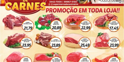 Super feirão de carnes do Supermercado Central de Rolim de Moura
