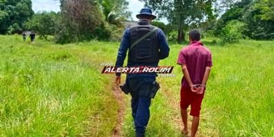 URGENTE - Suspeito de ter matado homem a facadas no Bairro Beira Rio é preso pela Polícia Militar, na zona rural de Rolim de Moura