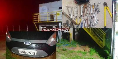 03 suspeitos de Ariquemes acabaram presos pela PM após tentativa de furto de cabos de energia da Concessionária Águas de Rolim de Moura