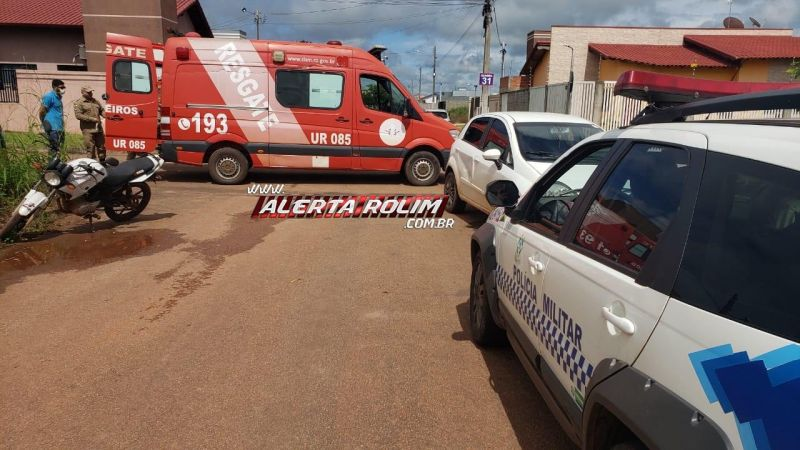 Colisão entre carro e moto é registrada no Jequitibá em Rolim de Moura