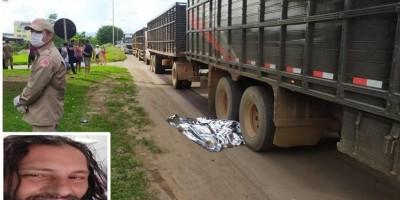 Homem comete suicídio ao se jogar embaixo de caminhão boiadeiro que tinha destino a Rolim de Moura
