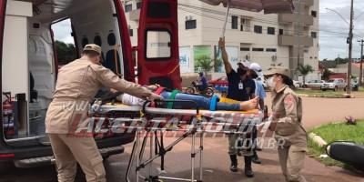 Acidente de trânsito foi registrado nesta manhã de segunda-feira em Rolim de Moura