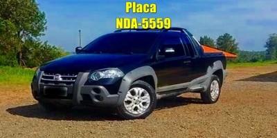 Caminhonete Fiat Strada foi furtada no último sábado em Rolim de Moura