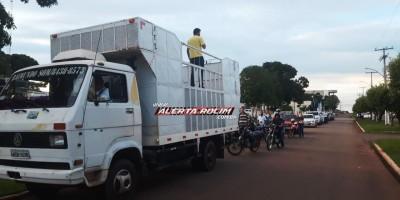 Carreata é realizada em Rolim de Moura durante movimento em apoio ao Presidente Jair Bolsonaro
