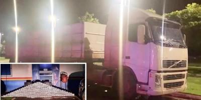 Carreta, com placas de Rolim de Moura, é apreendida no MT com 245 kg de cloridrato de cocaína; a droga foi avaliada em R$ 8 milhões