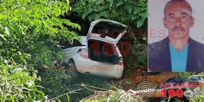 Corpo é encontrado dentro de carro em ribanceira na RO-257 em Ariquemes