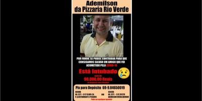 Familiares pedem ajuda para custear tratamento de Ademilson da Pizzaria Rio Verde