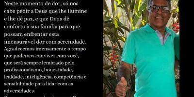 Nota de falecimento – Empresário Olímpio Caldeira, proprietário da Loja Central Modas por complicações da Covid-19