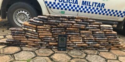 URGENTE - 115 kg de pasta base de cocaína foram apreendidos pela PM em Primavera de Rondônia
