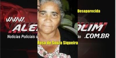 URGENTE - Familiares procuram por Rosa de Souza Siqueira, de 75 anos, que desapareceu em Rolim de Moura