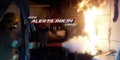 Através de ação rápida do Corpo de Bombeiros incêndio em confeitaria foi controlado nesta manhã de quinta-feira em Rolim de Moura
