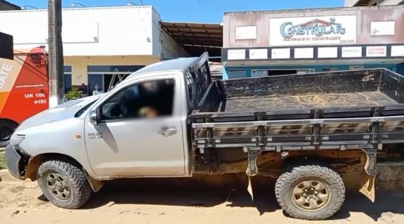 Dois homens são executadas a tiros dentro de caminhonete em Buritis
