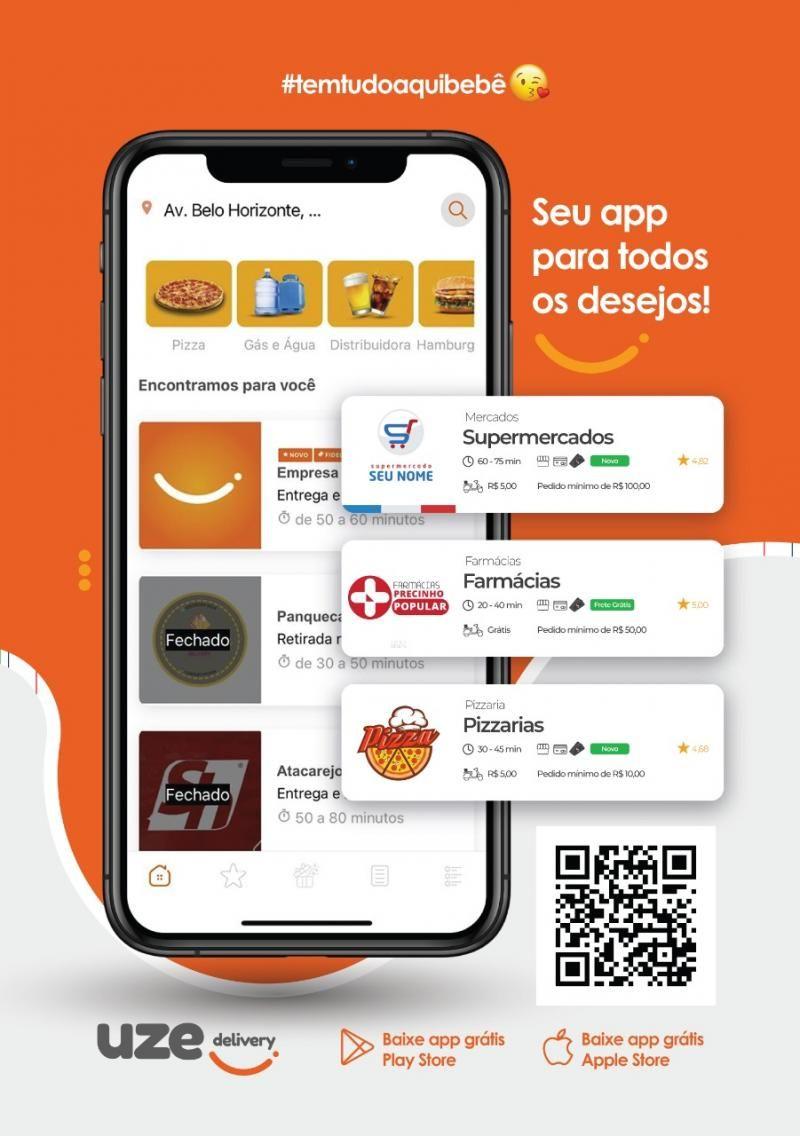 É AMANHÃ — Inauguração do Aplicativo UZE DELIVERY em Rolim de Moura/RO