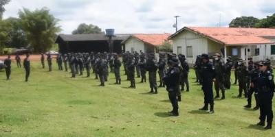 Força de Segurança é enviada à fazenda invadida pela LCP na região de Chupinguaia - Vídeo