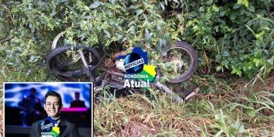 Motociclista tem cabeça arrancada após colisão com carreta na BR-364 próximo ao trevo que da acesso a Rolim de Moura