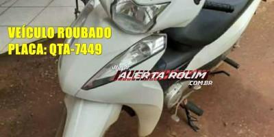 Mulher tem moto roubada por dois criminosos, enquanto retornava do serviço em Rolim de Moura