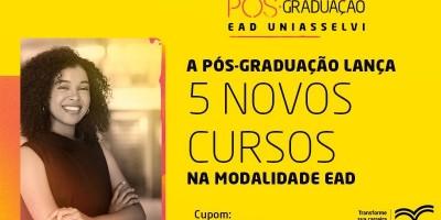 Pós-Graduação UNIASSELVI lança cinco novos cursos EAD no mês de abril