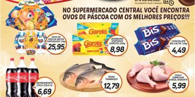 Promoção de Páscoa do Supermercado Central de Rolim de Moura; faça suas compras e concorra a 3 mil reais em dinheiro