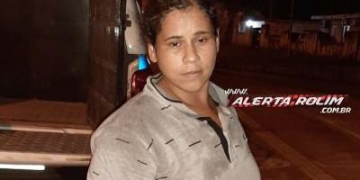 Acusada de crime de furto é presa pela Polícia Militar em Rolim de Moura