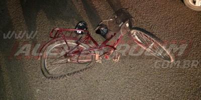 Idoso em bicicleta é atingido por carro na RO-010 durante a noite de quarta-feira em Rolim de Moura
