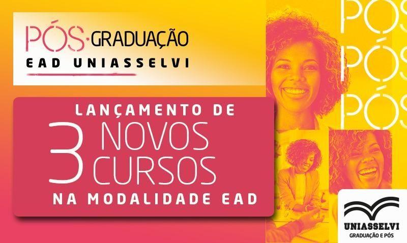 Lançamento de novos cursos de Pós-Graduação na modalidade EAD (on-line, semipresencial e smart)