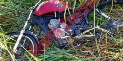 Moto é encontrada depenada após suposto comprador pegar o veículo para testar em Cacoal