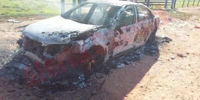 Polícia Militar localiza veículo destruído por incêndio em Cacoal