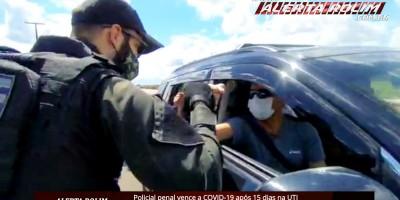 Policial penal Zé Roberto vence a COVID-19 após 15 dias na UTI e é homenageado por amigos e colegas de profissão em Rolim de Moura - Vídeo