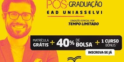 UNIASSELVI promove campanha de matrícula gratuita na Pós-Graduação