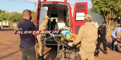 Acidente de trânsito com vítima foi registrado nesta manhã de quinta-feira em Rolim de Moura