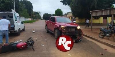 Acidente entre caminhonete e motocicleta deixa uma vítima fatal em Costa Marques