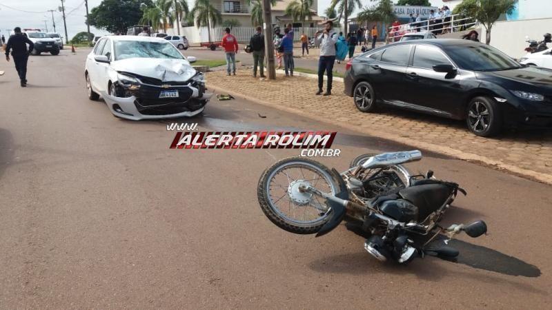 ATUALIZADA – Casal de Novo Horizonte perde a vida em grave acidente em Rolim de Moura, após colisão entre moto e carro no centro da cidade