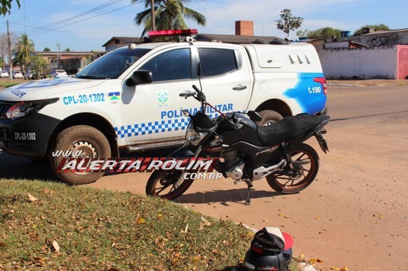 Colisão entre carro e moto foi registrada nesta manhã de terça-feira em Rolim de Moura