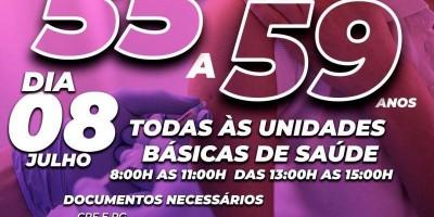 COVID-19: População de 55 a 59 anos será vacinada no próximo dia 08 em Rolim de Moura
