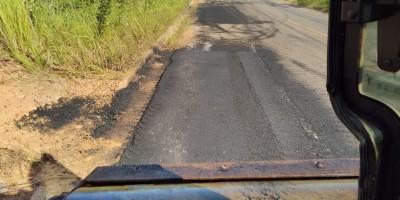 DER conclui operação tapa-buracos na rodovia 010, entre Novo Horizonte do Oeste e Migrantinópolis
