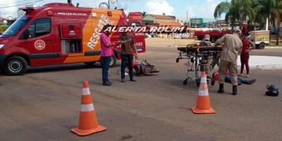 Em menos de uma semana, outro acidente de trânsito foi registrado no cruzamento das Avenidas Norte Sul e Recife, em Rolim de Moura