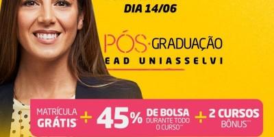 Faça uma Pós-graduação EaD com bolsa de 45% de desconto e ganhe outras 2 (duas) 100% gratuita